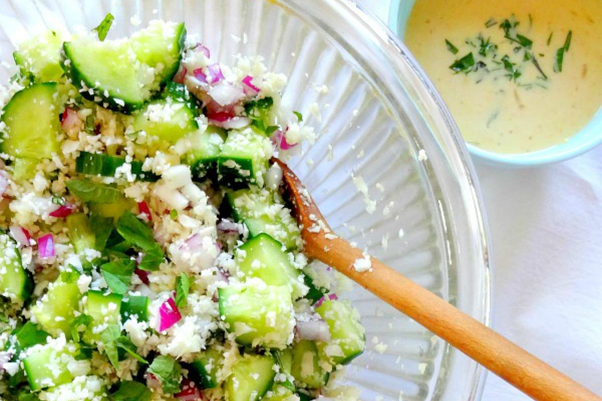 Basil Cucumber Salad