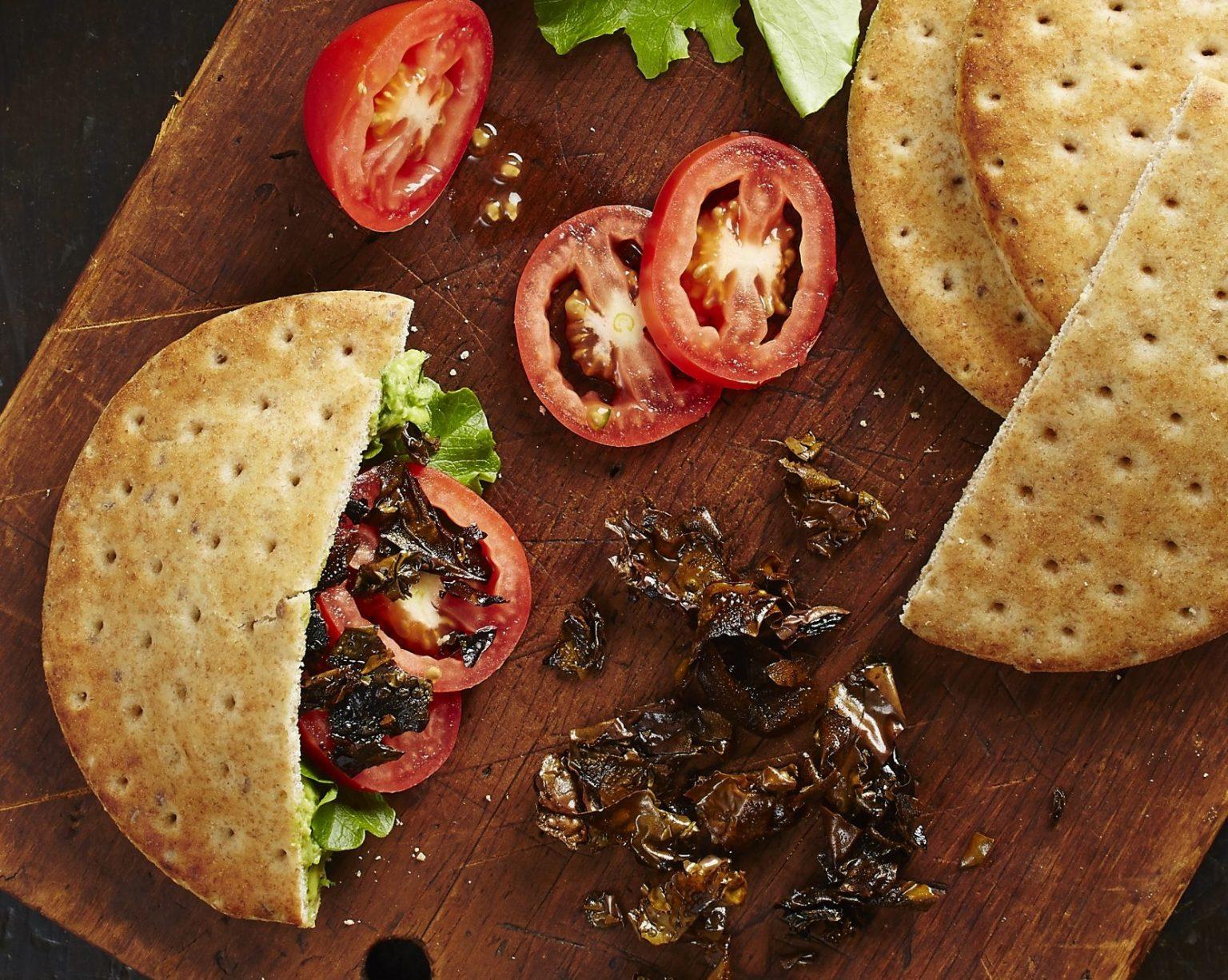Vegan BLAT (Bacon, Lettuce, Avocado & Tomato) Pitas