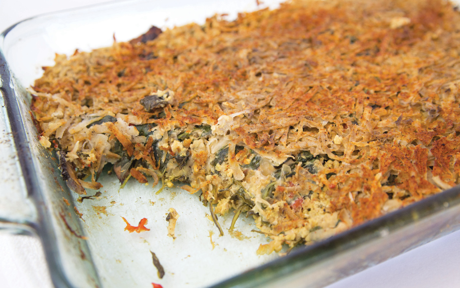 Oil-Free Breakfast Casserole With Hash Brown Crust