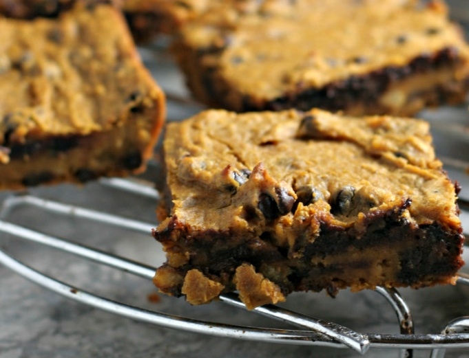 Flourless Chickpea Pumpkin Blondies