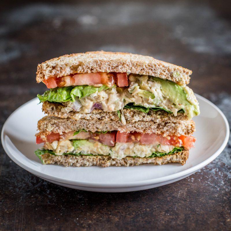 Vegan Creamy and Crunchy Chickpea Salad Sandwich