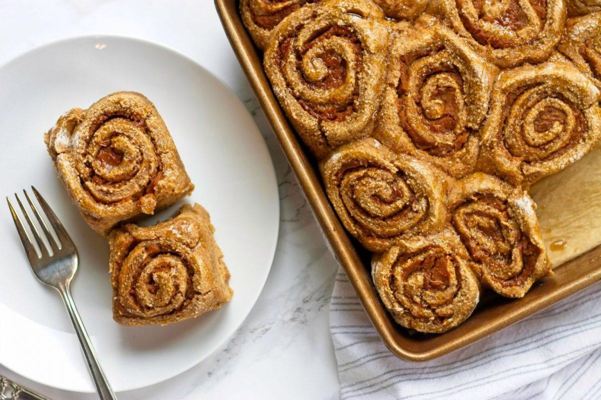 Vegan Cinnamon Rolls with Sweet Potato Filling
