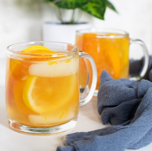 Vegan Healthy Citrus Pear Ginger Tea