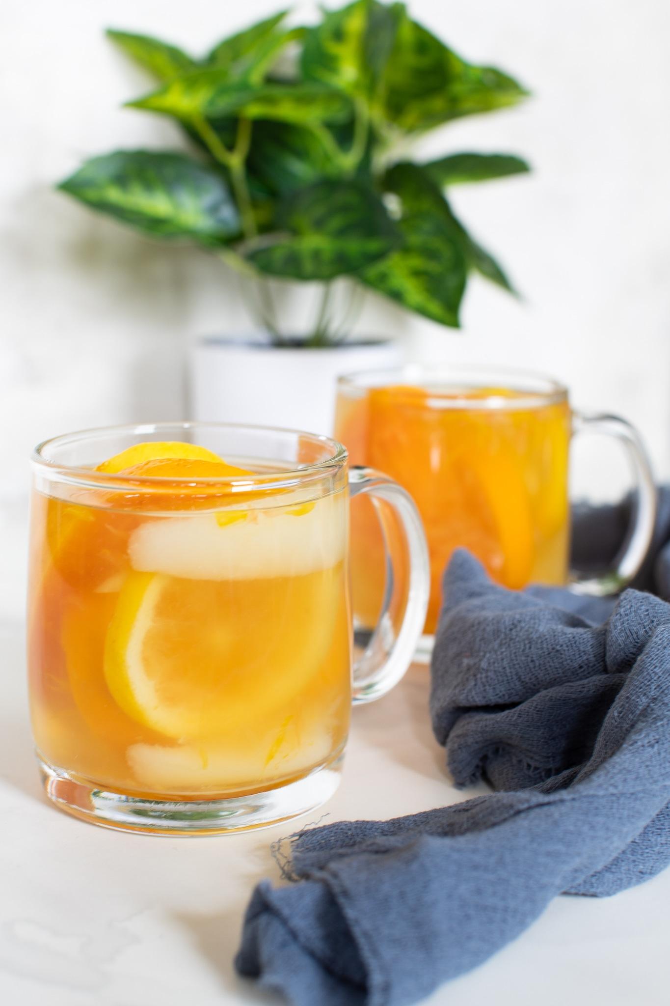 Healthy Citrus Pear Ginger Detox Tea