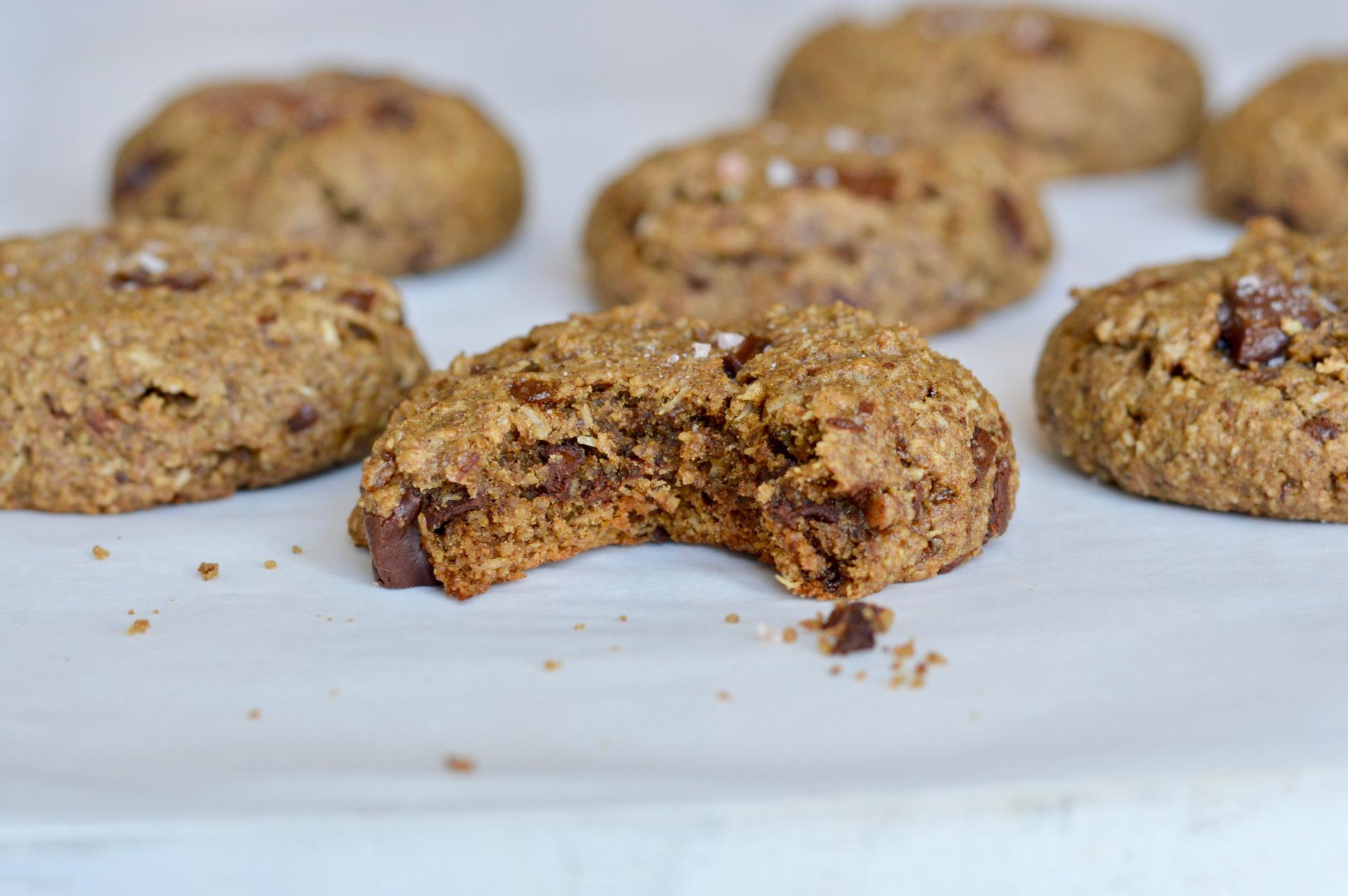Gluten Free Chocolate Chunk Cookies [Vegan]