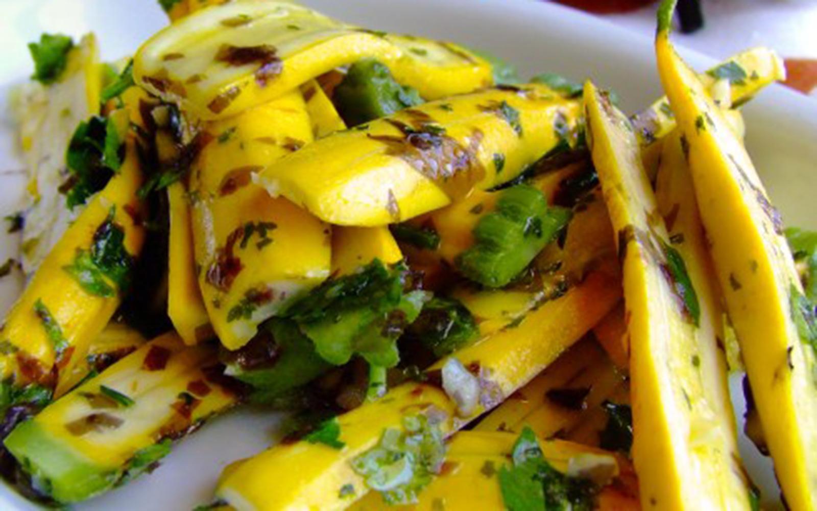 Marinated Zucchini and Seaweed Salad