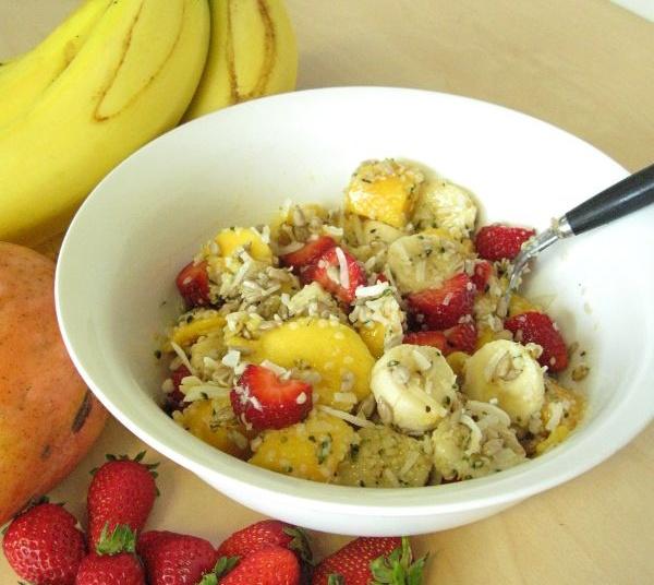Crunchy Hemp Coconut Fruit Salad