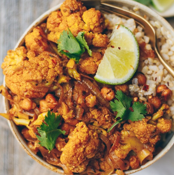 Vegan Indian-Spiced Cauliflower