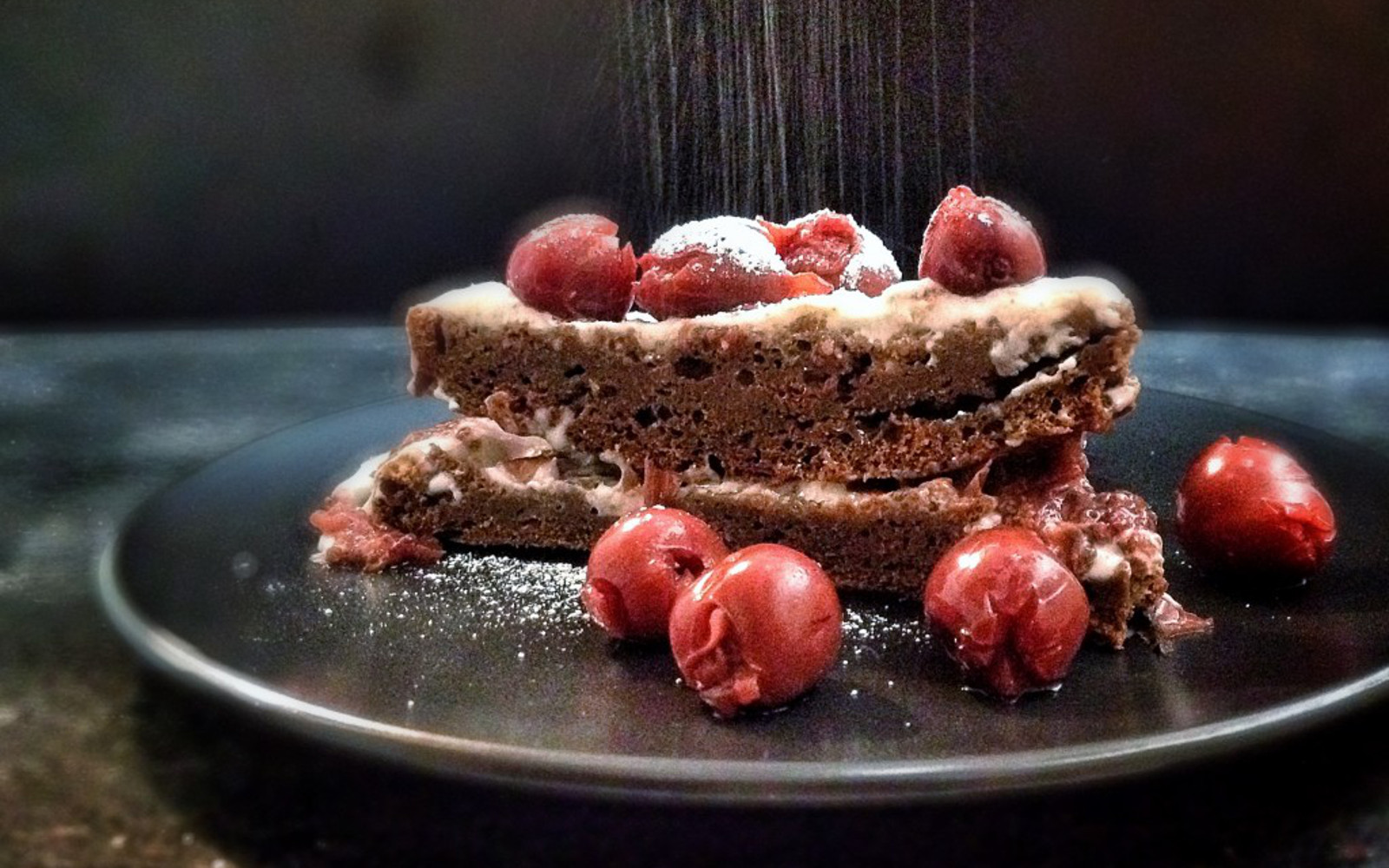 Oil-Free Black Forest Cake