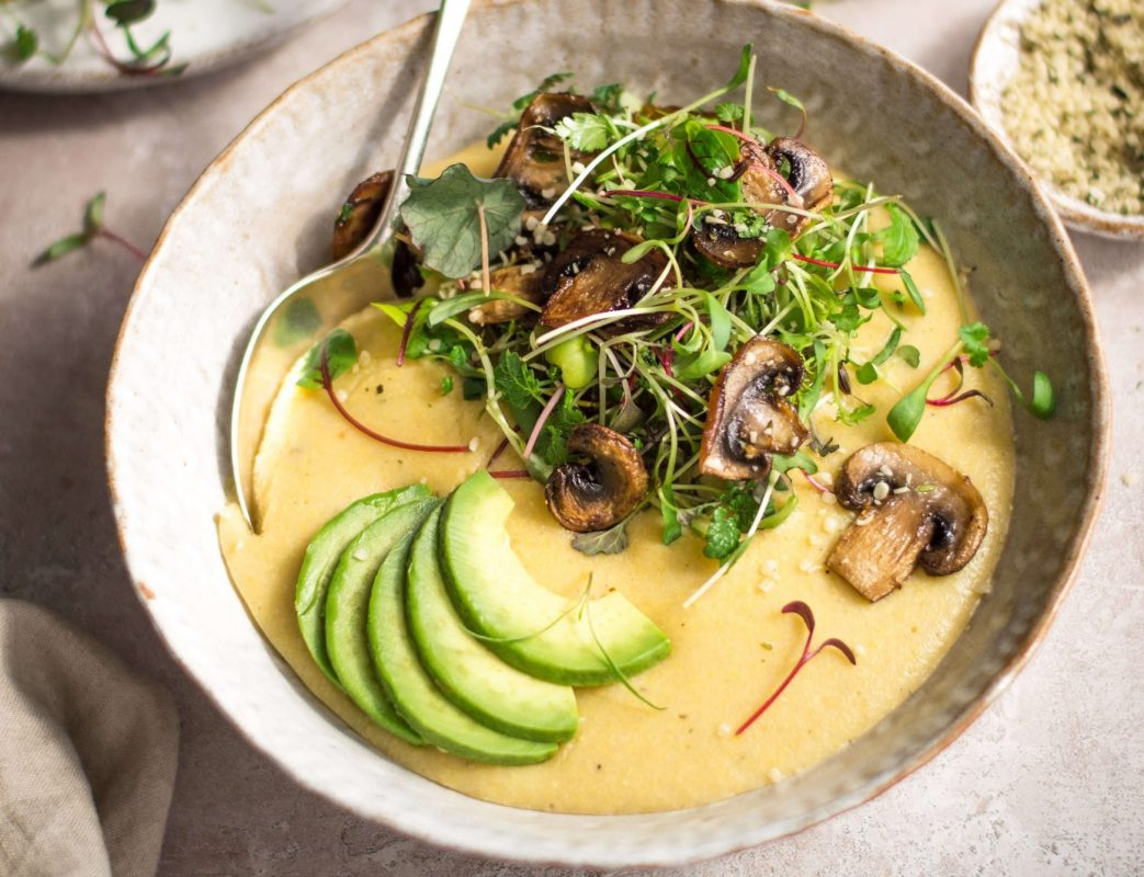 Vegan Quick Cheesy Polenta