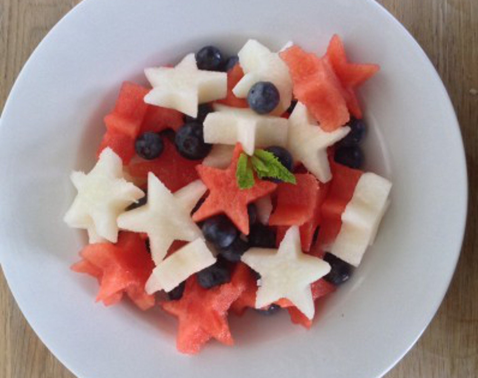 Red, White, and Blue Salad With Watermelon Vinaigrette