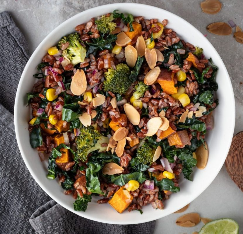 Hearty Roasted Vegetable Rice Salad