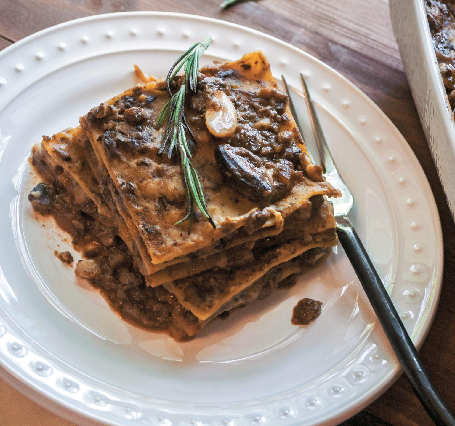 Vegan Barbecue Mushroom Lasagna