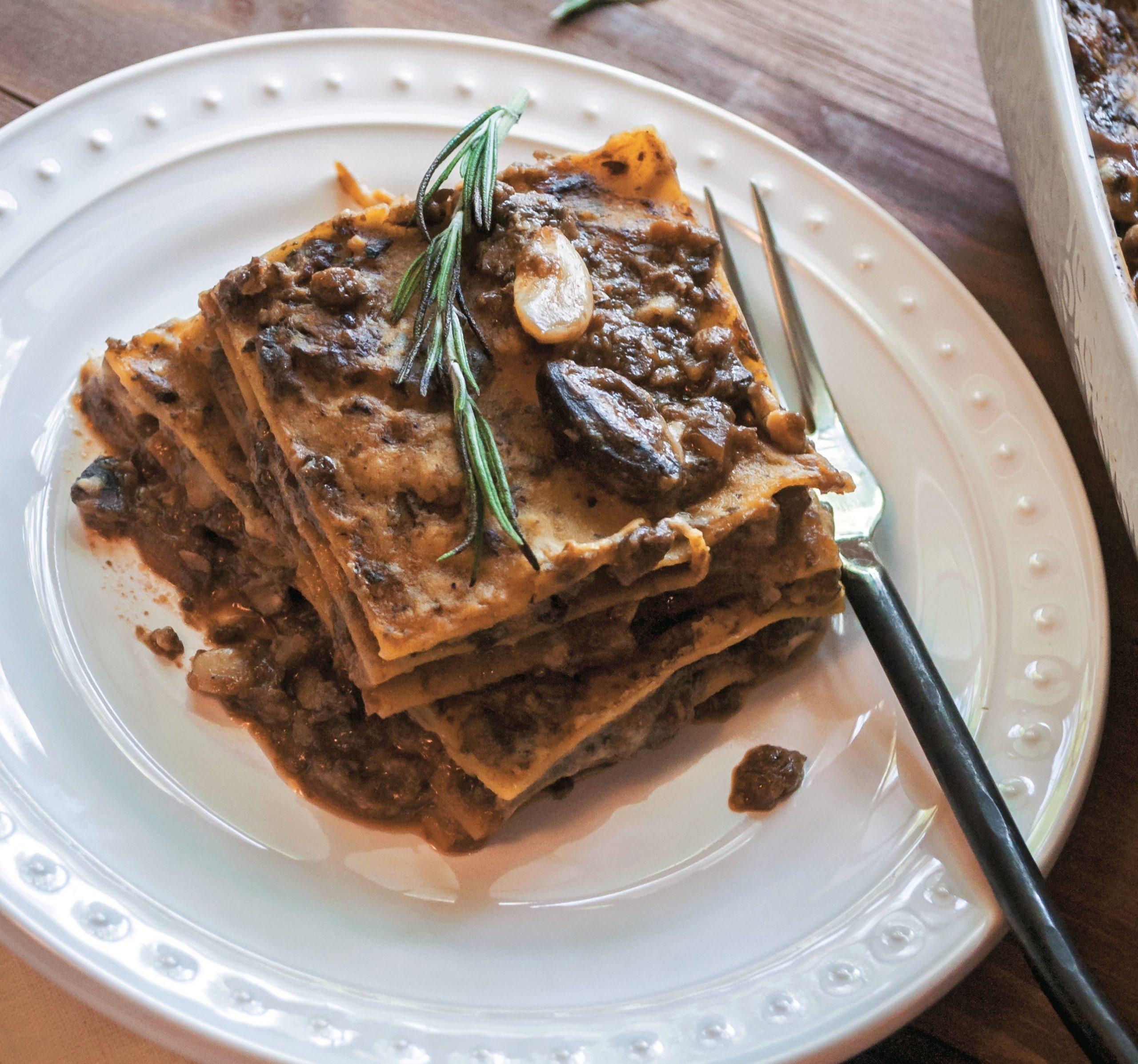 Barbecue Mushroom Lasagna