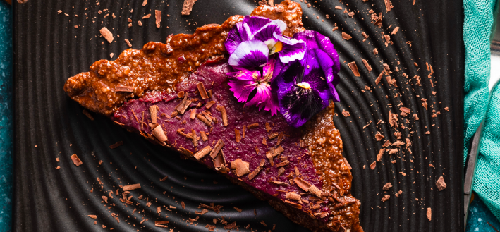 No-Bake Purple Sweet Potato and Chocolate Tart