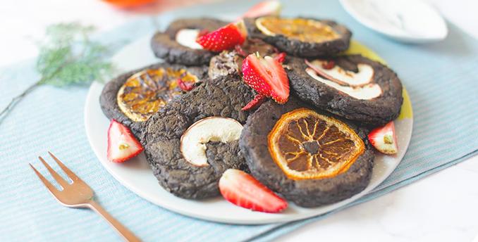Vegan Chocolate Coffee Brownie Pancake