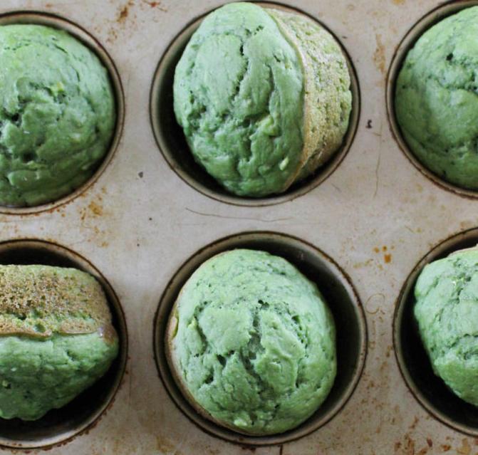 Lemon Matcha Muffins
