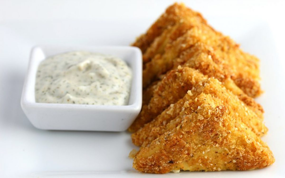 Southern-Fried Tofu With Maple Dill Sauce