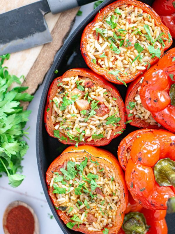 Vegan Stuffed Bell Peppers with Rice