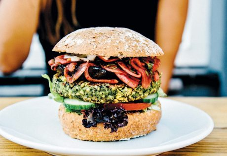 Spicy Herb and Broad Bean Burger