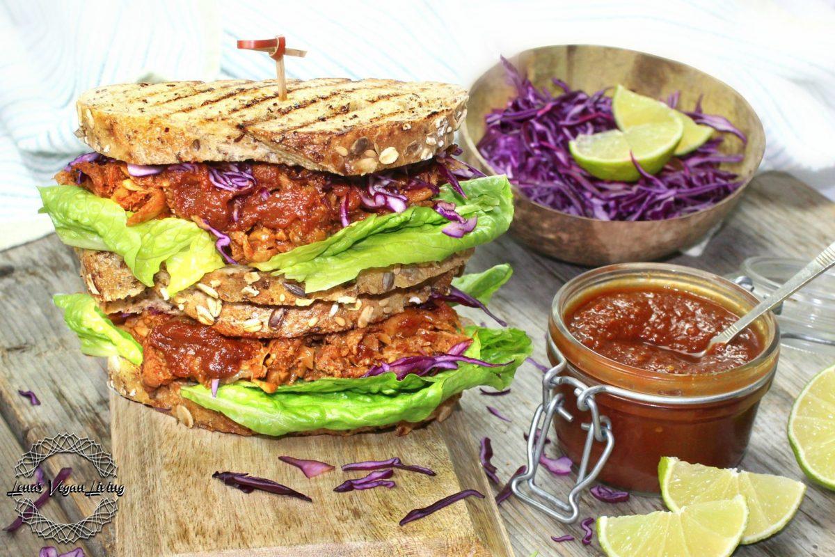 Vegan BBQ Jackfruit Sandwich