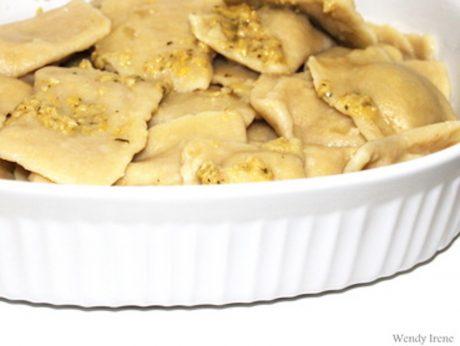 Artichoke White Bean Ravioli
