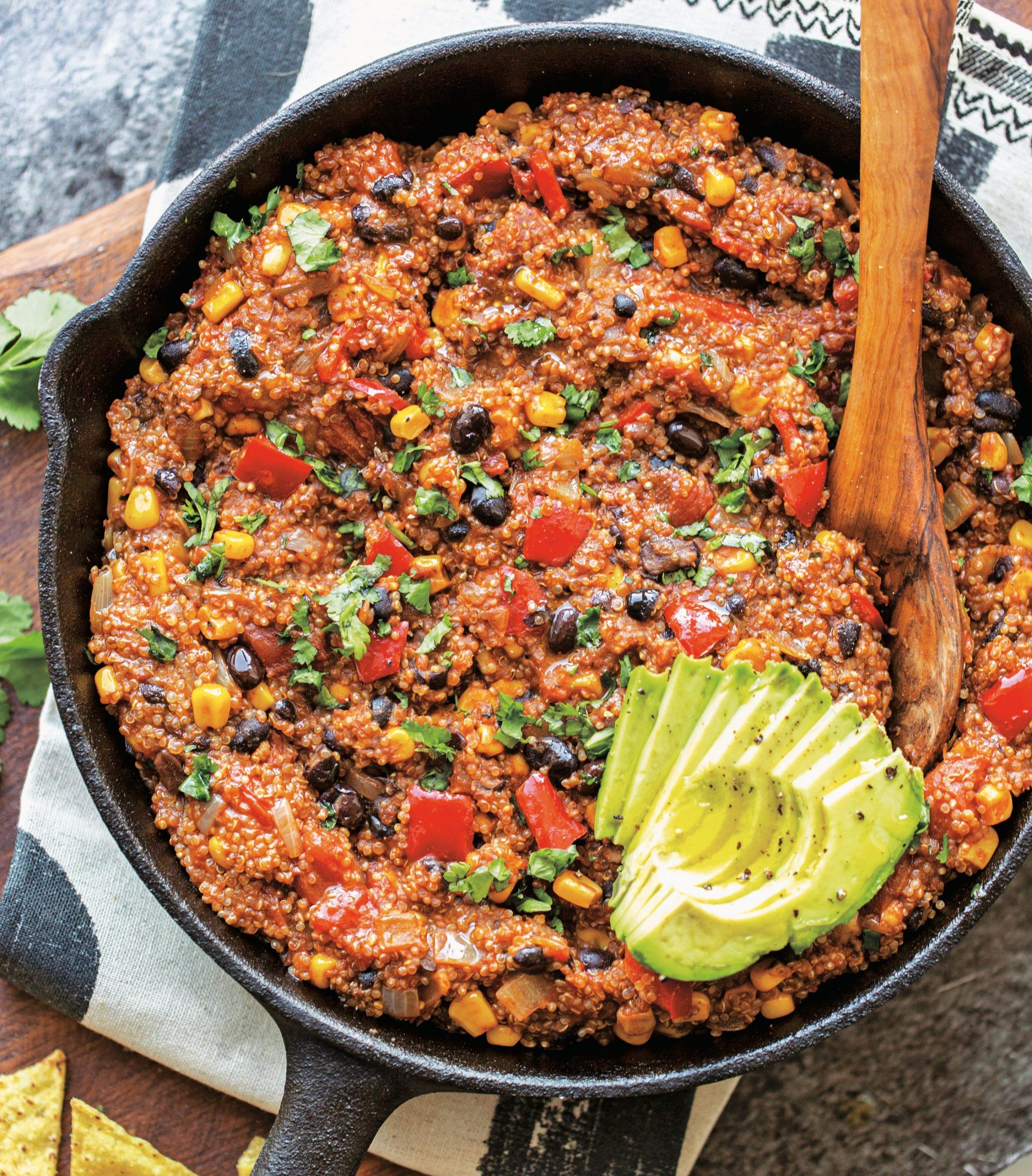 black bean quinoa
