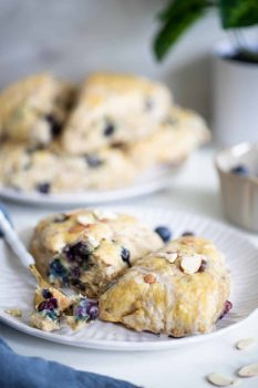 Blueberry Almond Breakfast Scones