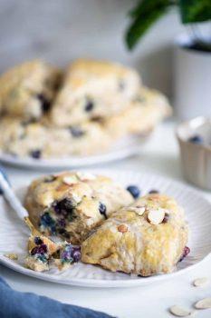 Blueberry Almond Breakfast Scones