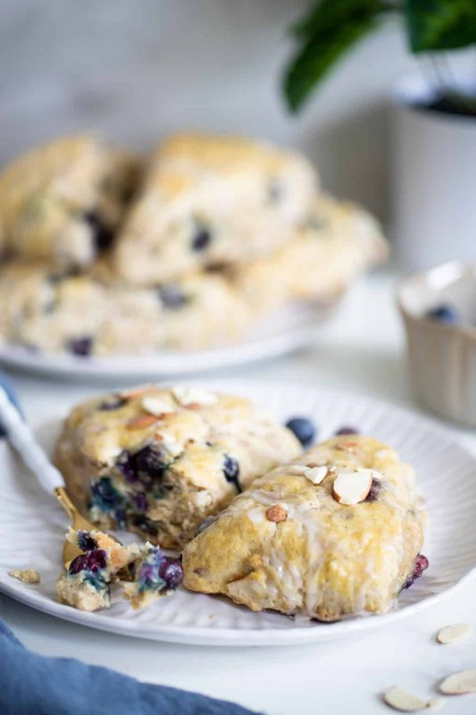 Vegan Blueberry Almond Breakfast Scones