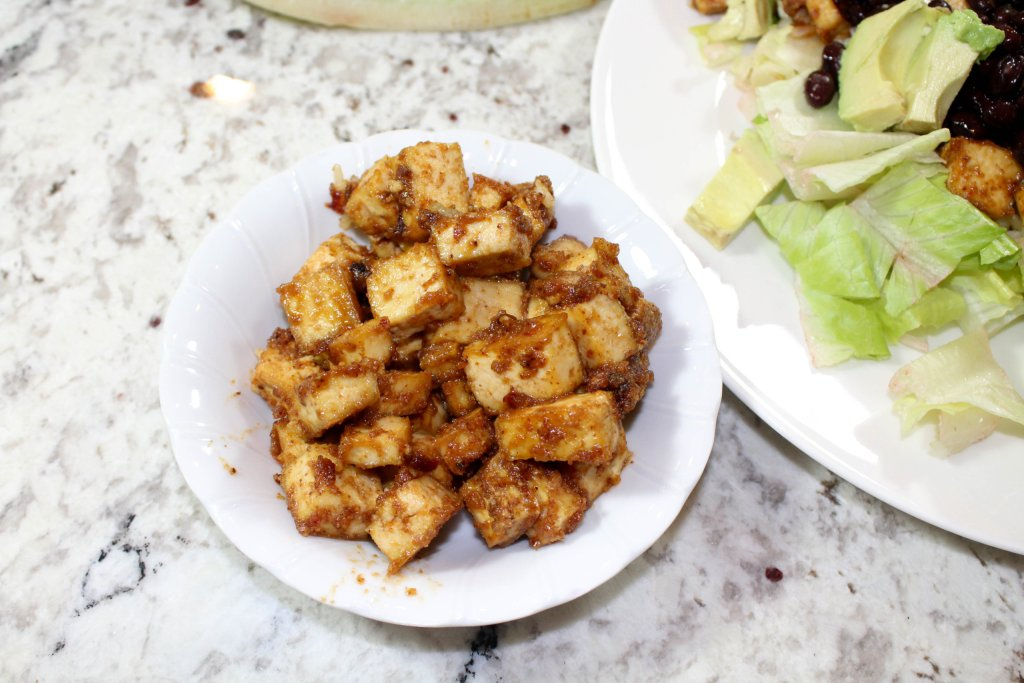 Vegan peanut butter tofu