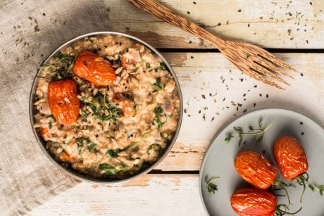 Mediterranean Savory Oatmeal with Millet