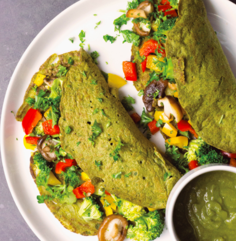 Vegan Spinach Crepes