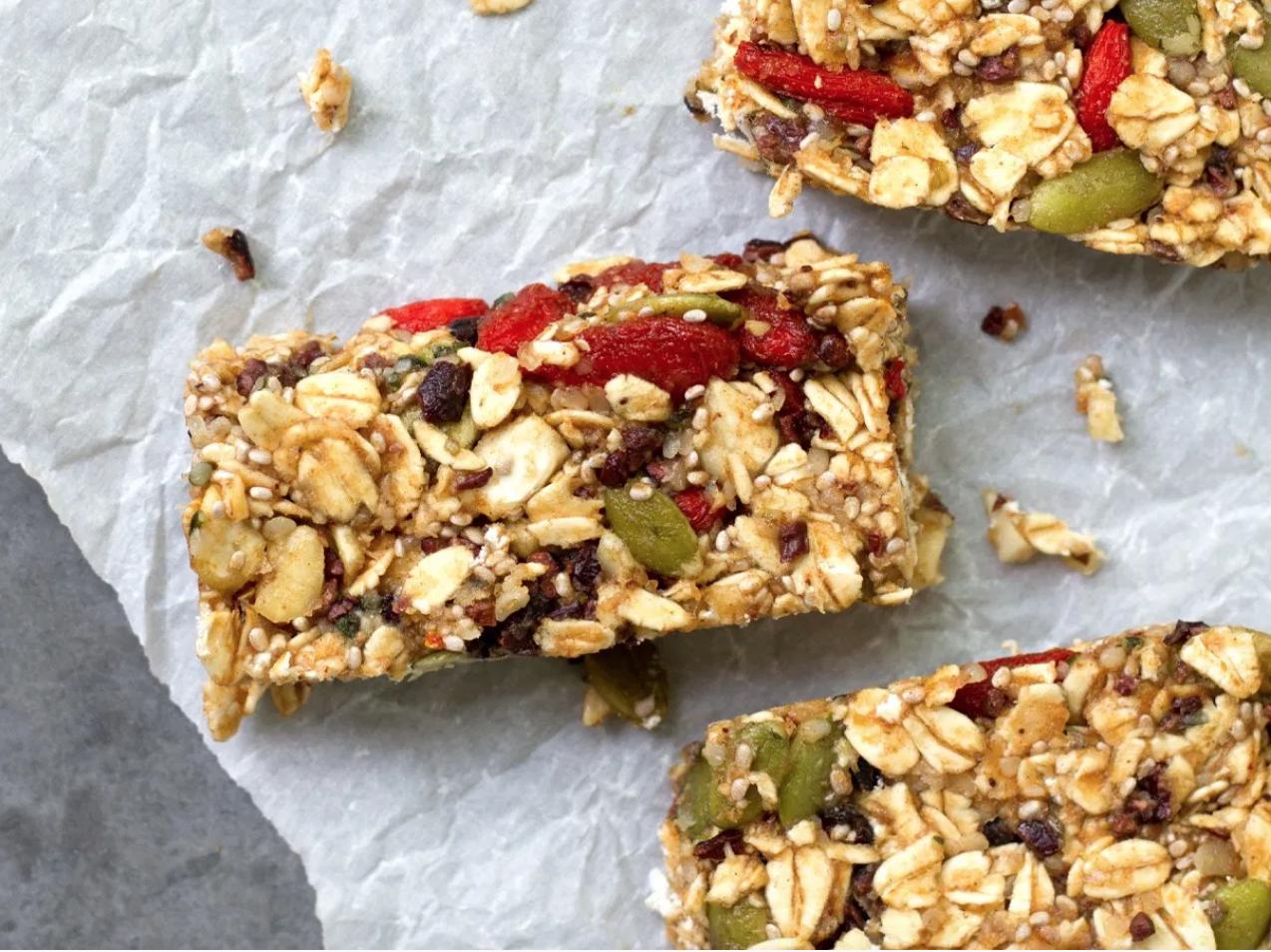 Raw Superfood Granola Bars