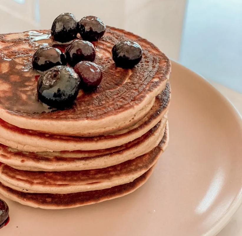 Vegan Fluffy Protein Pancakes