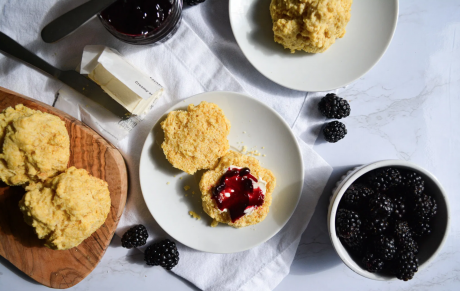 Fluffy Cornmeal Drop Biscuits