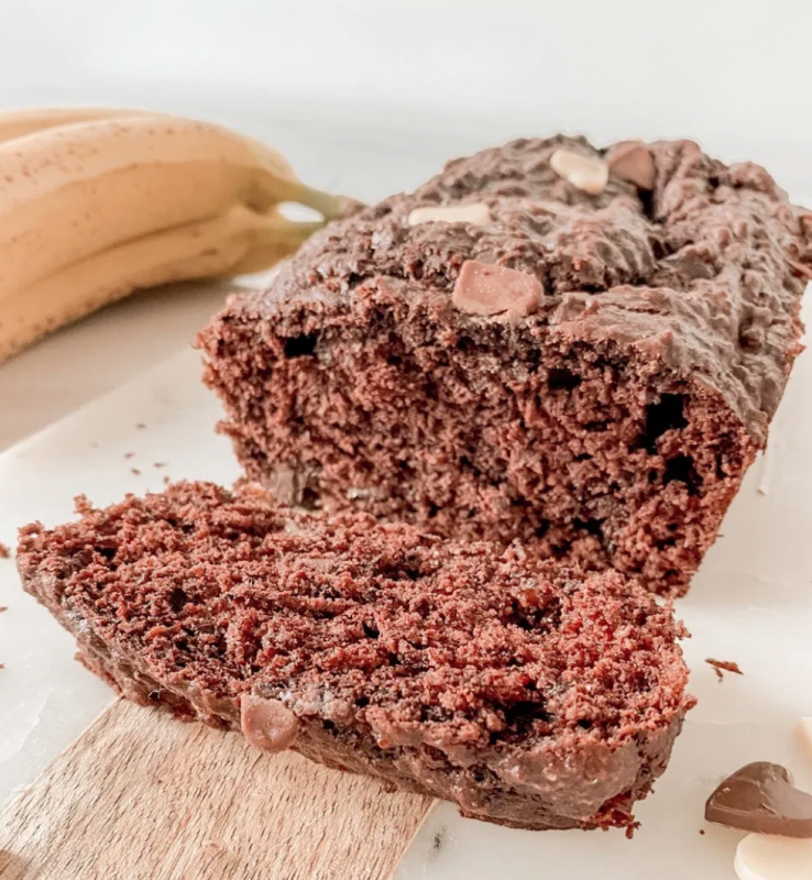 Vegan Triple Chocolate Banana Bread