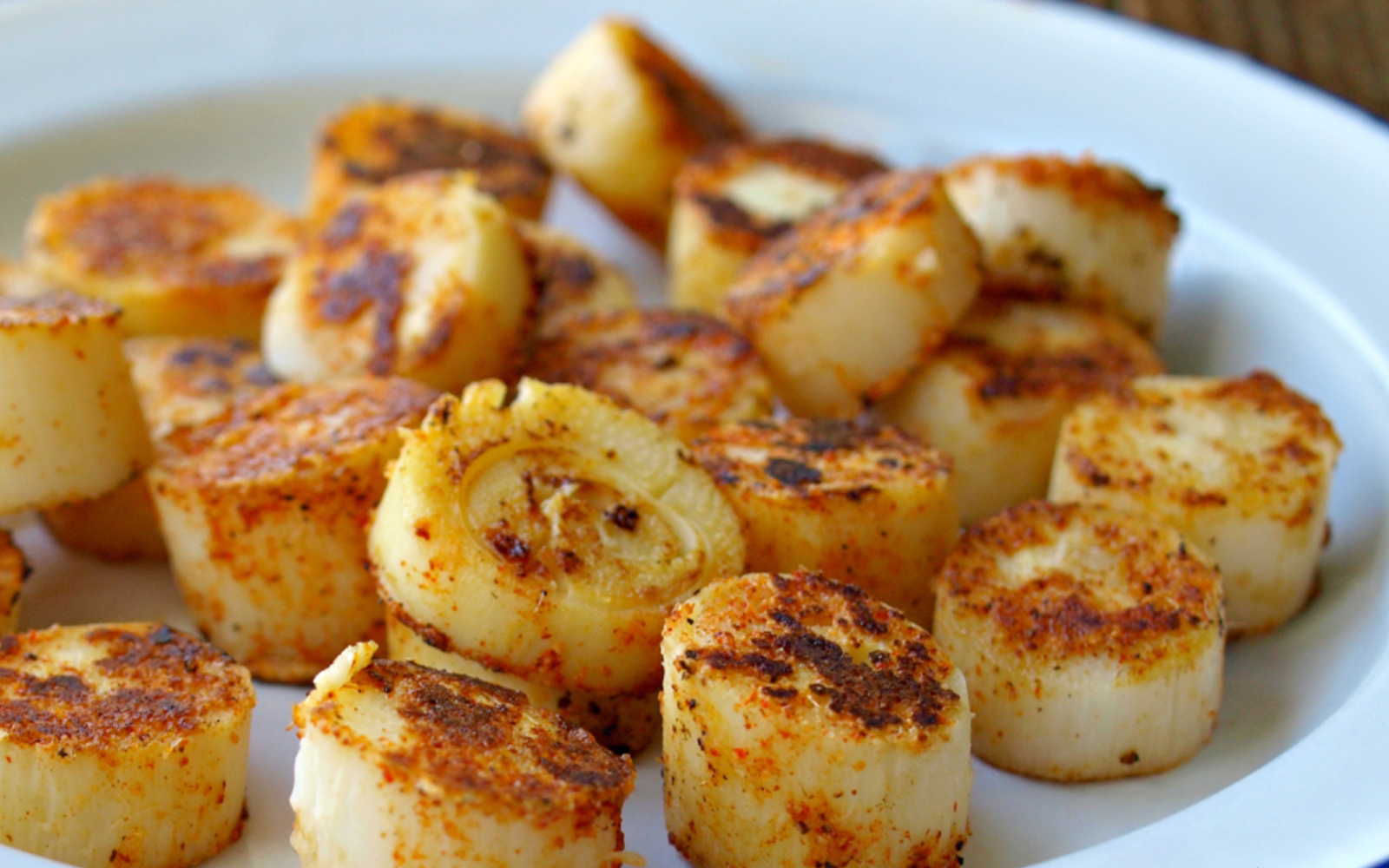 Spicy and Seared Hearts of Palm Rounds