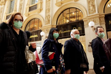 Tourists in Masks