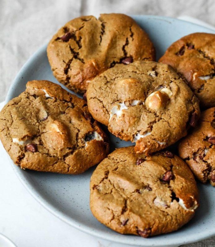Vegan Peanut Butter S'mores Cookies