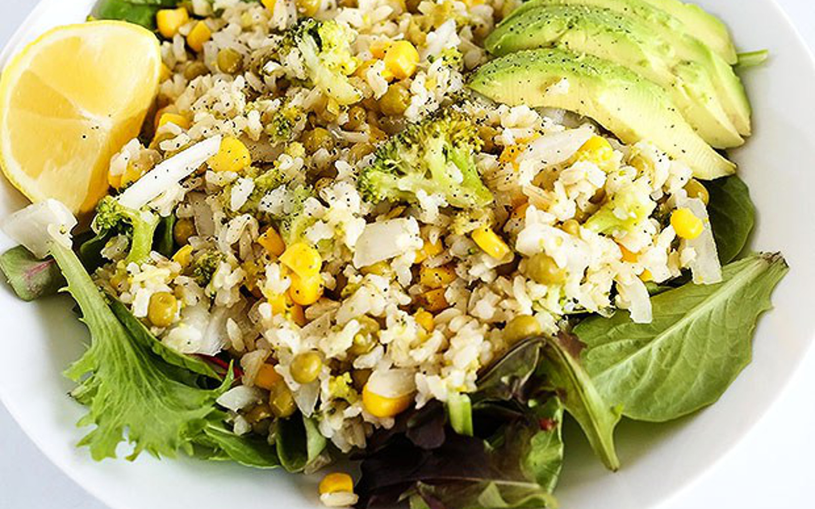 Lemon Broccoli Rice Bowl