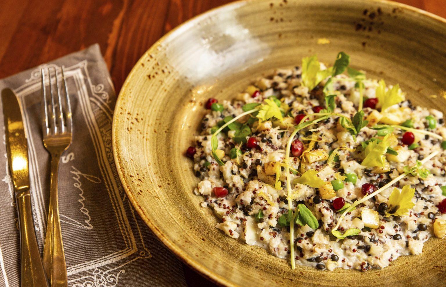 Vegan Cauliflower & Red Quinoa Risotto