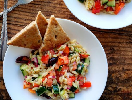 Greek Orzo Pasta Salad with Fresh Dill