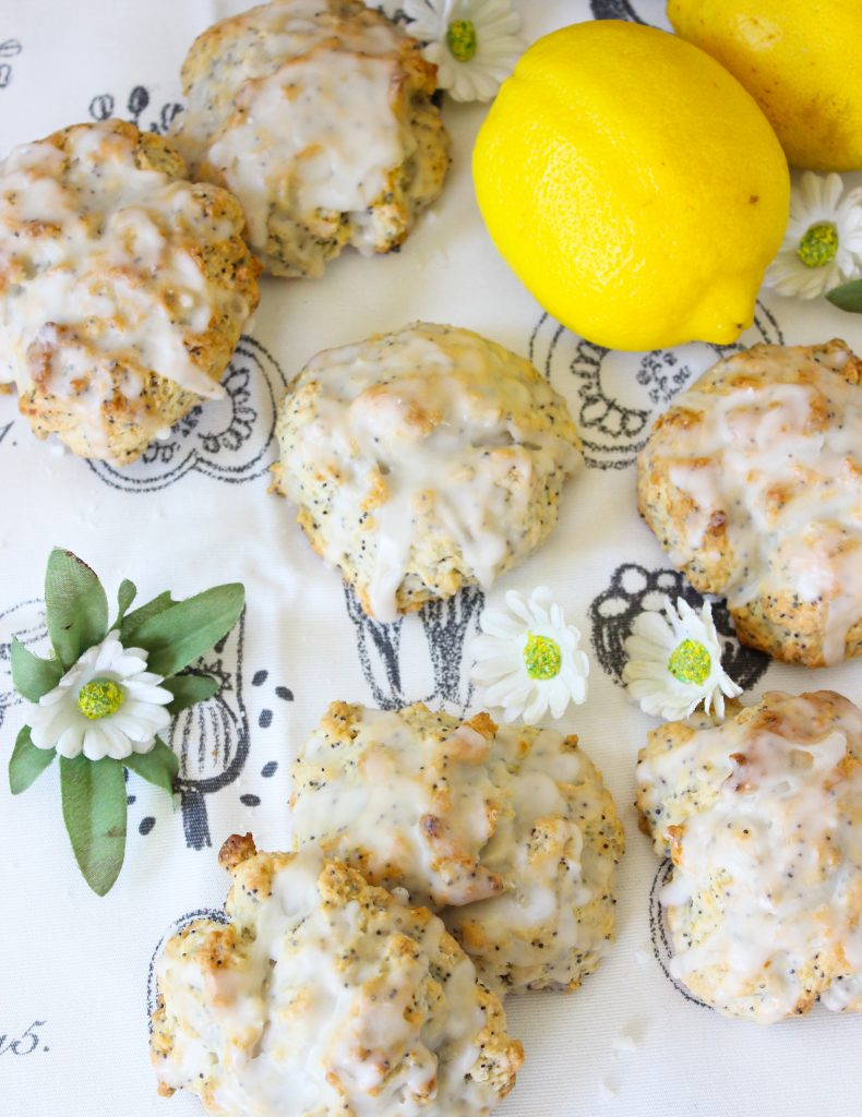 Lemon Poppyseed Scones [Vegan]