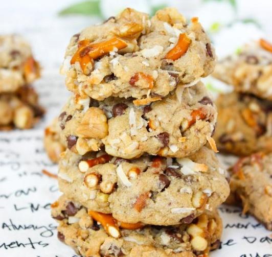 Vegan Kitchen Sink Cookies