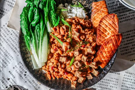 "Taiwanese-style Braised Tempeh ""Pork"" (Lu Rou Fan)"