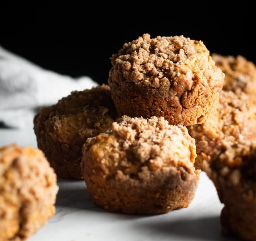 Maple Carrot Muffins with Streusel Topping