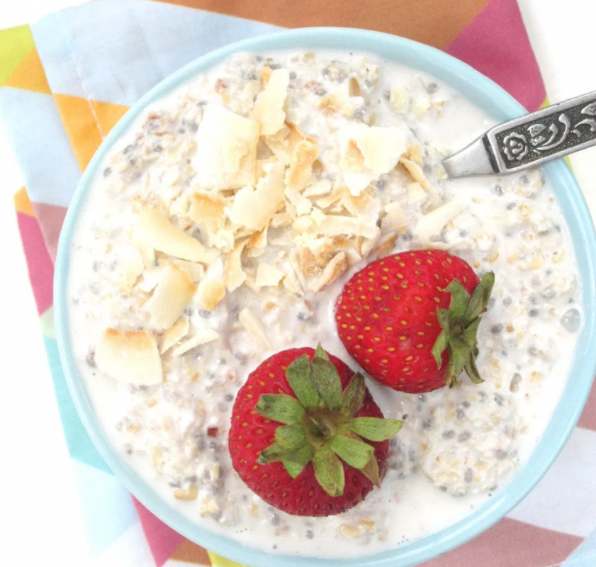 Vegan Lychee and Coconut Oatmeal