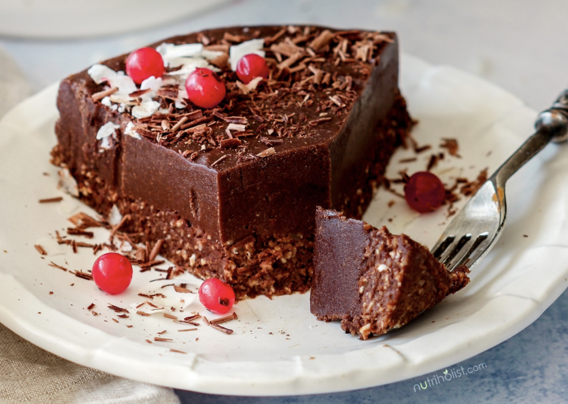 Vegan Raw Chocolate Fudge Cake