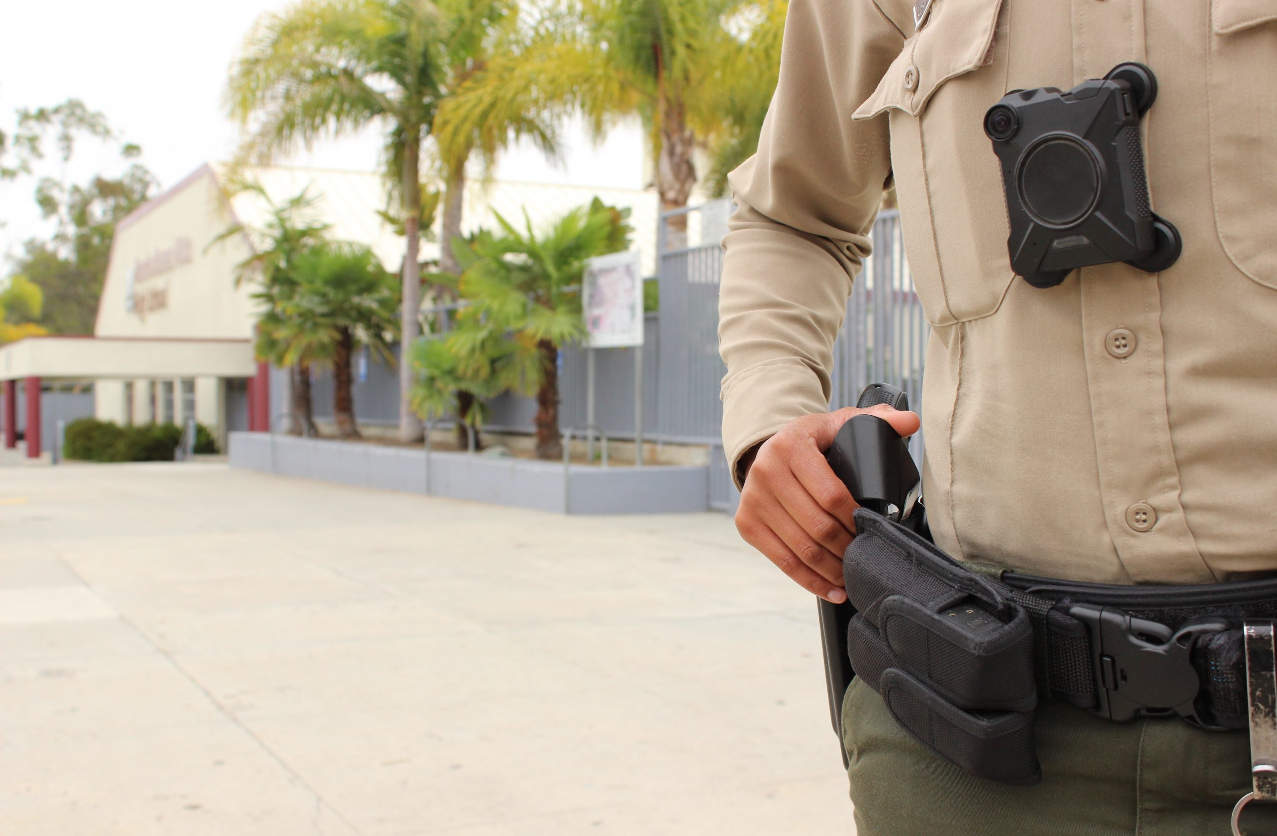 police officer gun on hip
